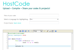 Online free code hosting