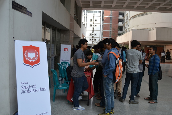 Mozilla Awareness Booth at Ahsanullah University
